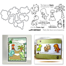Eastshape Dinosaur Stamp and Dies Scrapbooking Coconut Crafts Dies for Embossing Clear Stamp Metal Cutting Dies Stencil New 2019 eastshape clear stamp with cutting dies dinosaur coconut stamps and dies crafts dies embossing stencil scrapbooking new 2019