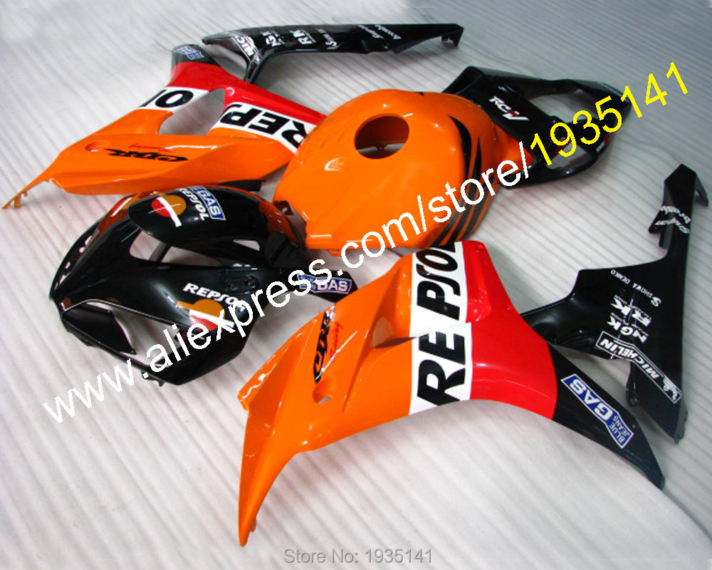 Горячей продажи газа компания Repsol для Honda 2006 2007 CBR1000RR 06 07 ЦБ РФ 1000 рублей послепродажного мотоцикл обтекатель комплект (литья под давлением)