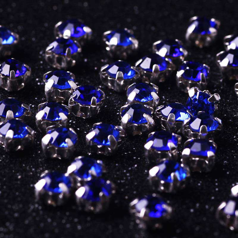 100pcs Rhinestones Strass Crystal Glass Rhinestones For Clothes DIY Accessories Sew on Rhinestone On Clothes Flatback Rhinestone in Rhinestones from Home Garden
