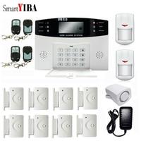 SmartYIBA Home Security Alarmes GSM Alarm System Door Open Remind Sensor Motion Sensor Wired Siren Alarm Kits