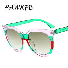 99d52d6fd1a Pop Age Luxury Italy Brand Designer Round Sunglasses Women Retro Famous Sun  Glasses Transparent Stripe Eyeglasses Oculos de sol