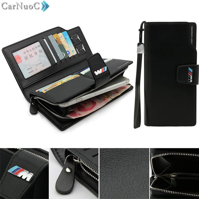 Bmw M Performance Wallet Leather Genuine Credit Card Holder Black Car Men Bag