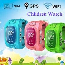 Smart Kids Tracker GPS Reloj Usable Dispositivos GPS LBS Posicionamiento Android IOS WIFI Triple smartwatch Teléfono GW300 Lado Ranura SIM