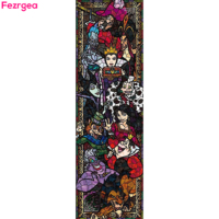 Diamond Painting VILLAINS Stained Glass Full Diamond Painting Kit 5D Diamond Embroidery Paint With Diamonds Paintings Home Decor