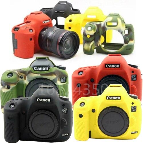 Alta qualidade silicone capa da câmera de borracha macia ombro dslr câmera sacos para canon 6d 6d2 5d4 1300d 80d 650d 700d 5d3 750d