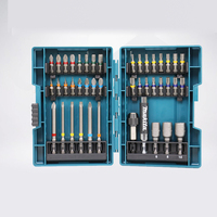 Japan Makita Drill Bit Set 43 PCS Set Screwdriver Set Colour Screwdriver Head Cross Flower Type Head Hexagon Socket Tool Parts