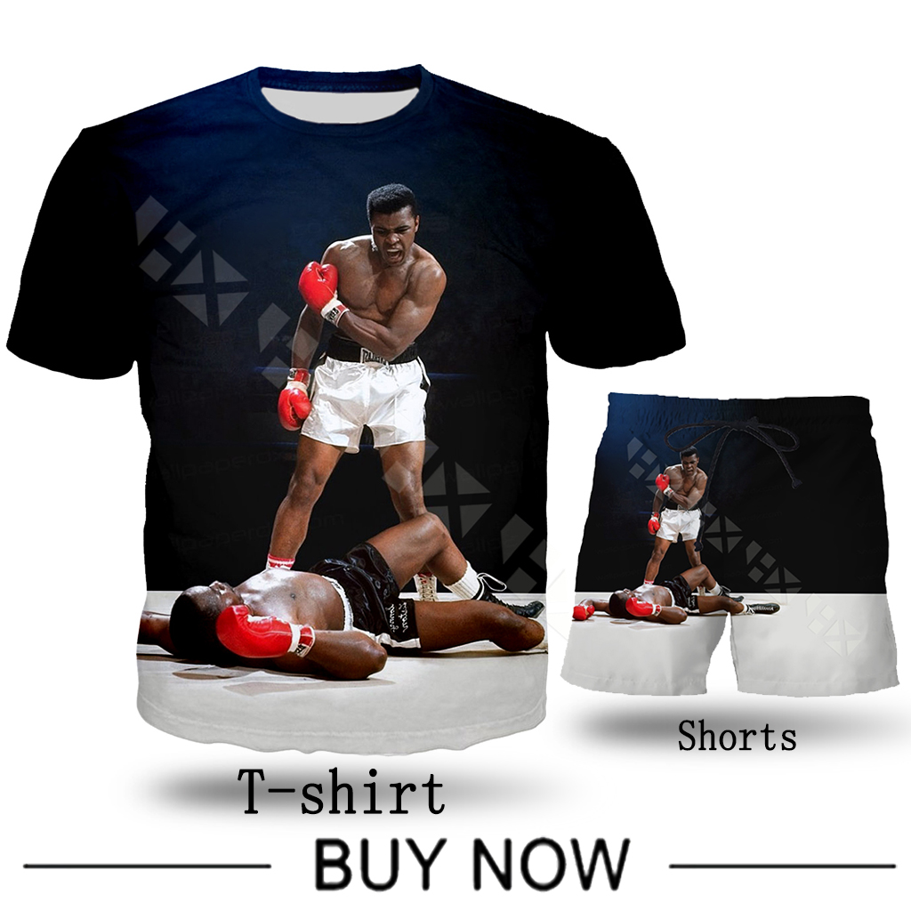Boxer Muhammad Ali   T     Shirt   Men Clothing Hoodies 3D Print Unisex   T     Shirt   Sweatshirt Casual Streetwear Shorts Set T42