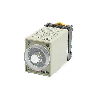 DC 12V 0-30 Seconds Power On Delay Timer Timing Relay AH3-3 w Base Socket