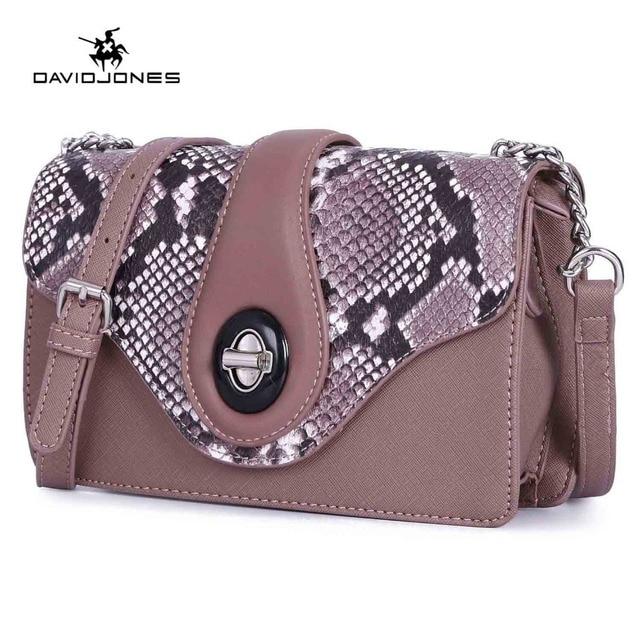 85882b652b5f DAVIDJONES women handbag pu leather female shoulder bags small lady  serpentine crossbody bag girl messenger bag drop shipping