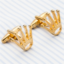 Fashion Crown Cufflinks Top Tuxedo Shirt Button Bonito Wedding Groom Laser Cuff links Perfect Quality Men Jewelry Z556