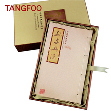 Creative Chinese personality gift  silk  clear stamps  book collection of silk album cultural stamps gift
