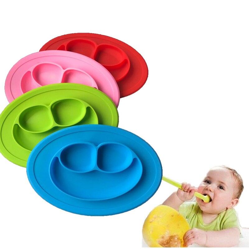 Детские Силиконовые Прекрасный Улыбка уход за кожей лица пластины здоровья материал обед обеденная дети чаша Дети Кухня Посуда
