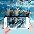 Caixa à prova d' água para iphone 5 5s se 6 6 floveme s 6 plus 6 s além de 7 7 além de limpar touch screen phone case cobertura completa cobertura mergulho