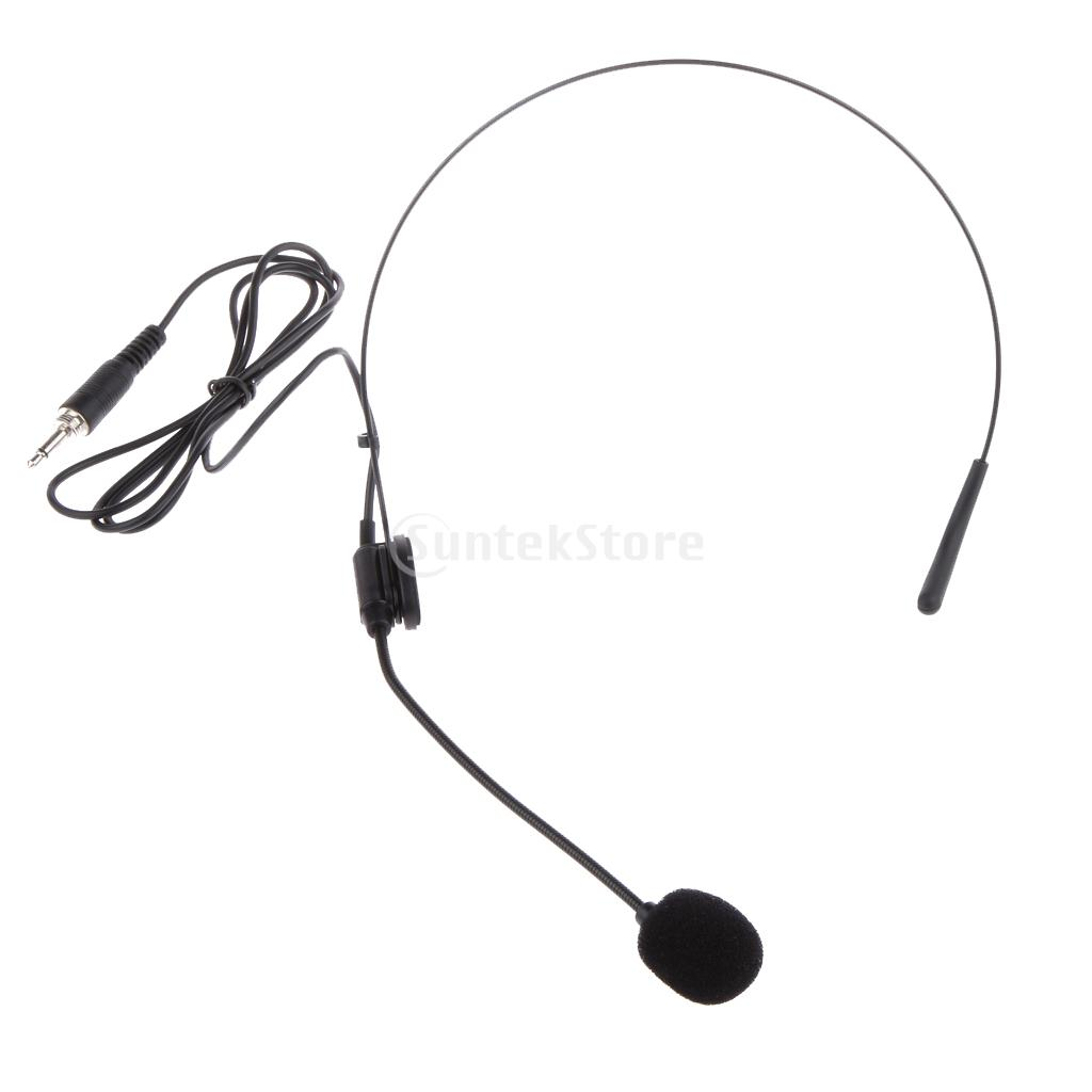 3.5mm Plug Wired Headworn Microphone Microfone MIC For Voice Amplifier Speaker Loudspeaker For Lecture Teaching Conference Guide