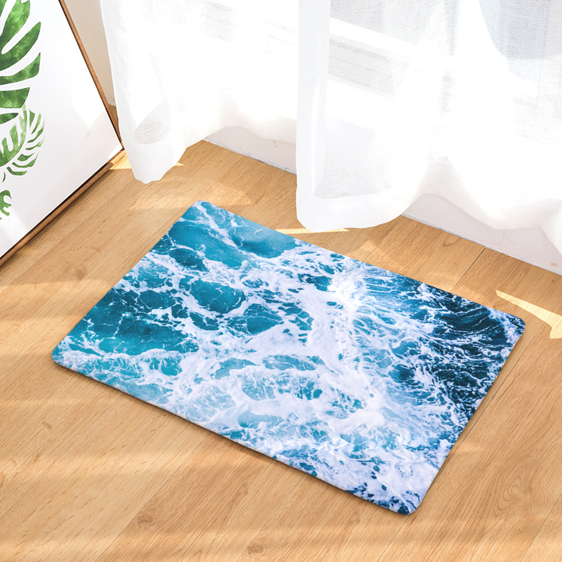 Detail Feedback Questions About Carpet Rugs And Carpets Blue Wave Flannel Non Slip Area Rug For Living Room Bathroom Mat 40x60cm Alfombras De Sala Tapetes
