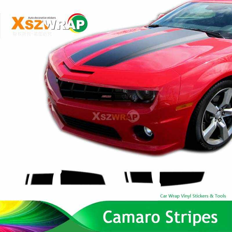 Carbon Black Camaro Racing Stripes Chevy Decals Hood Roof Trunk Kit Pro Motor Custom Made