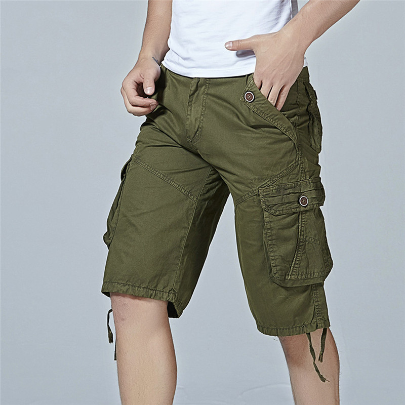 2018 Comfortable and Breathable Fashion Mens Casual Pocket Beach Work Casual Short Trous ...