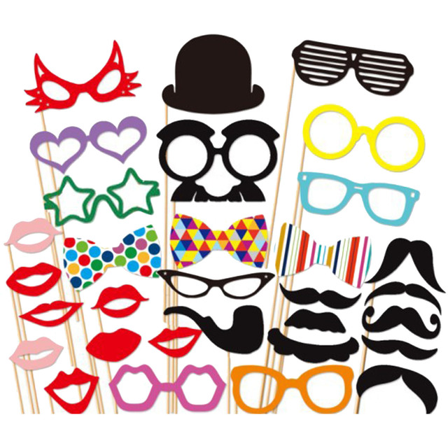Taos 31 pcs diy photography photo booth props kit for halloween taos 31 pcs diy photography photo booth props kit for halloween wedding birthdays graduate party selfie solutioingenieria Images