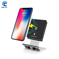 CHINFAI WPC QI Wireless Charger for Tablet Adjustable Stand Fast Wireless Charger for iPone X 8 Plus Samsung Galaxy S8 Nexus 6