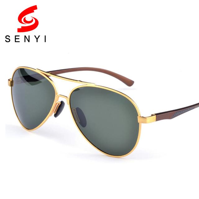 2016 Polarizada óculos de Sol Dos Homens Designer de Marca Famosa Anti Lente Reflexiva óculos de sol Óculos de Condução Masculino Moldura de Ouro do Aviador Óculos De Sol 247