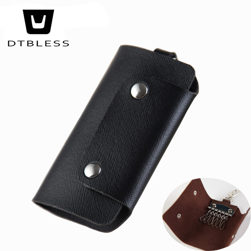Leather Key Holder purse for Women Housekeeper Key Holder Cases Wallets Men Fashion Keys Bag D001-1