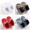 2016 nuevo diseño de la Primavera zapatos de Lona zapatos de Bebé con cordones Niños Zapatos Infantiles Del Niño de Deportes Clásico Primeros Caminante Anti Zapatos antideslizantes