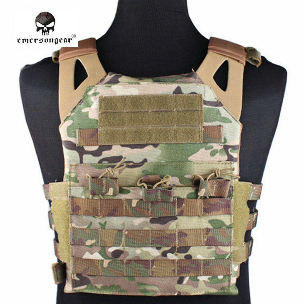 Emerson 1000D Airsoft JPC Molle Vest Simplified Version Tactical Combat Hunting Wargame Protective Gear Waistcoat emerson 1000d molle jpc airsoft tactical vest simplified version outdoor training paintball hunting vest plate carrier em7344