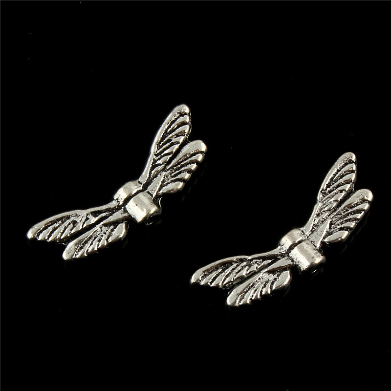 20pcs/lot Antique Silver dragonfly wings Pendant Charms Jewellery Findings 20*6mm Fit Vintage Jewelry Pendants DIY handmade 20pcs lot zinc alloy antique silver bronze necklace pendant carrier connector diy jewelry findings