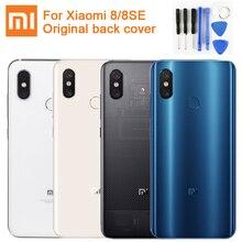 Oryginalna szklana bateria tylna obudowa dla Xiaomi 8 MI8 M8 8SE tylna pokrywa baterii telefon bateria Backshell Back Cover Cases