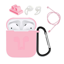 5pcs bluetooth wireless earphone accessories silicone case earbuds protective sleeve cover holder rope for Airpods Apple HM3F 5pcs set silicone wireless bluetooth earphones case for airpods apple i7 earbud earphone accessories protective cover