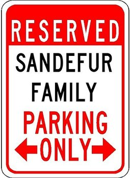 Personalized Family Parking Metal Signs-Customized Last Name Metal Sign For Family Parking Lot-Aluminum Sign 12x18,Public Sign signs
