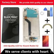 5.99 Inç AAA Kalite LCD Için Çerçeve Ile Xiaomi Redmi S2 LCD yedek parça ekran Için Redmi S2 LCD Digitizer Meclisi