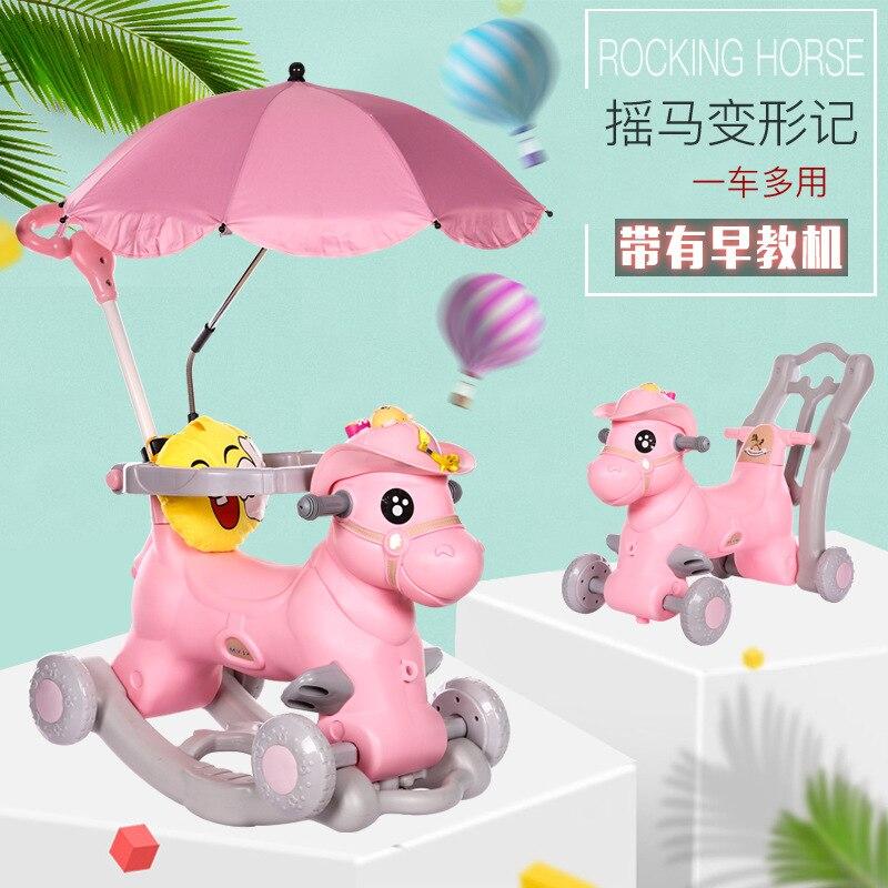 Chaise à bascule pour enfants avec musique bébé marcheur bébé videur multifonction grand bébé jouet voiture coulissante bébé artefact - 5