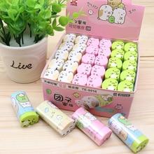 15pcs kawaii rubber eraser can cut cute living creature erasers for kids school pencil stationary supplies gift items goma bulk