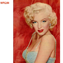 Marilyn Monroe portrait oil painting Hand Painted  Frameless Tableau Wall Art Canvas Painting Decorative Pictures