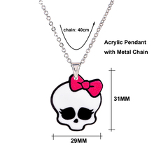 Best Cartoon Hair Bow Cat Necklace For Girl Kids Cheap