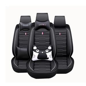 Image 5 - Housses de siège de voiture en cuir PU, housses de siège pour Renault, pour accoudoir, clio duster fluence kadjar kaptur koleos latitude, haute qualité