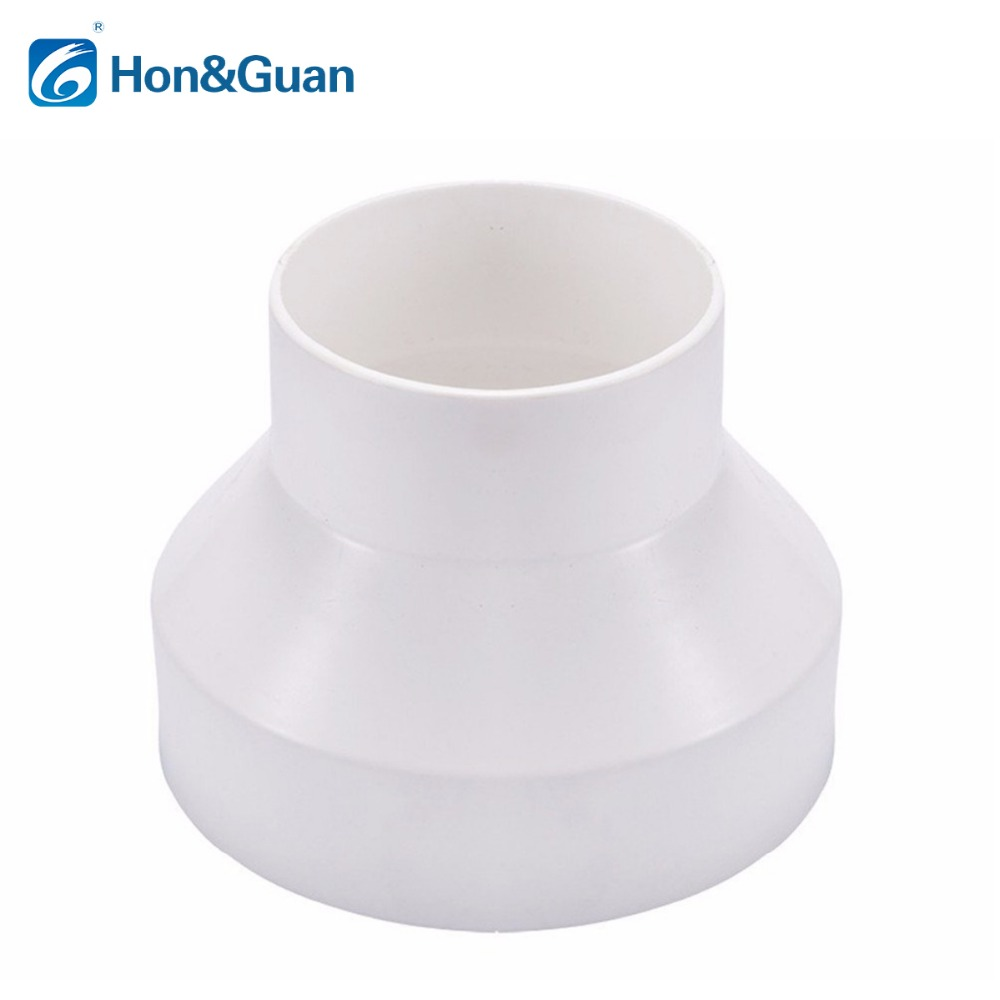 Hon&Guan Straight Duct Reducer and Increaser Adaptor Connector Inline Heating Cooling Ventilation Duct Fan fantech fr 250 inline centrifugal 10 duct fan molded housing ã° 649 cfm