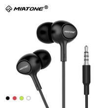 High Quality HD Clear Super Bass Stereo In-ear Earphones 3.5mm Plug Wired Headset with Microphone for Iphone Samsung Smart Phone