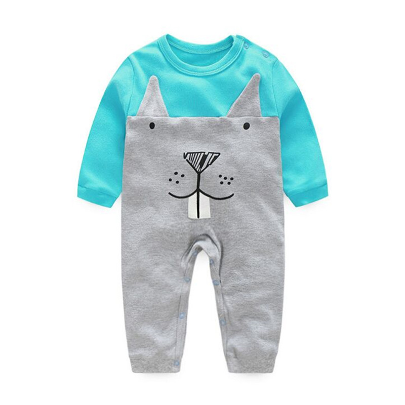 Cartoon Cotton Baby Rompers Spring Long Sleeve Baby Wear Infant Jumpsuit Boys Girls Clothes Roupas De Bebe Infantil newborn baby rompers baby clothing 100% cotton infant jumpsuit ropa bebe long sleeve girl boys rompers costumes baby romper