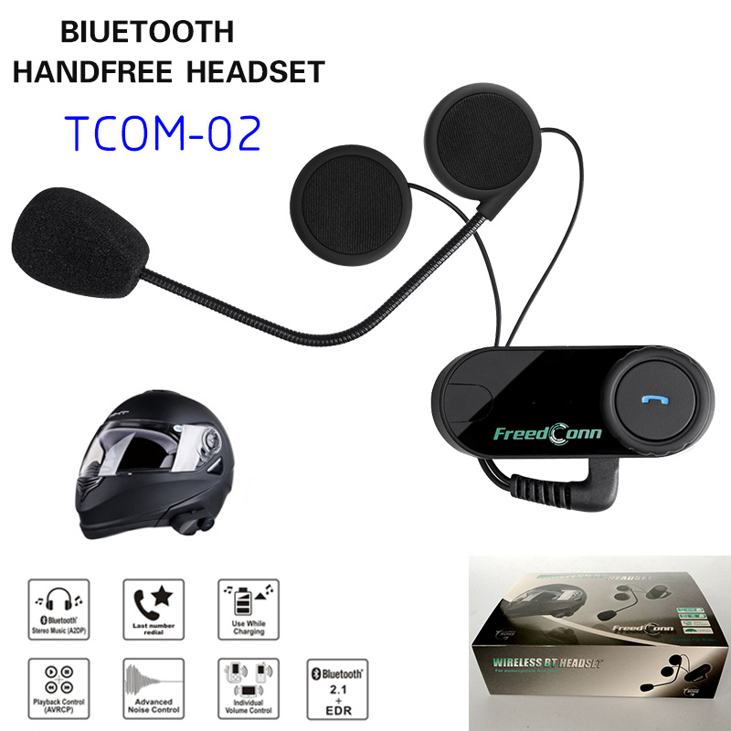 Smart BT Motorcycle Helmet Headset  Bluetooth Headphone Motor Bike Casco Earphone Tom-02