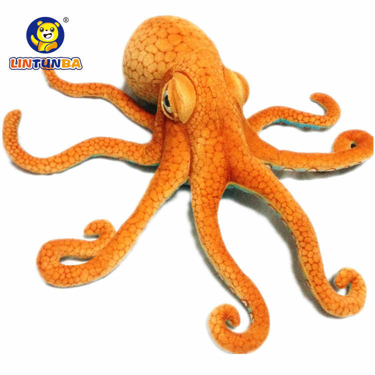 Real Life Big Octopus Doll Octopus Plush Toy Pillow Sea Bottom Animal Doll Creative Realistic Gift 55cm
