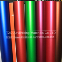 High Quality Satin Metallic Matte Chrome Red blue green Vinyl Wrap Film Roll Bubble Free For Car Styling Size:1.52*20M/Roll