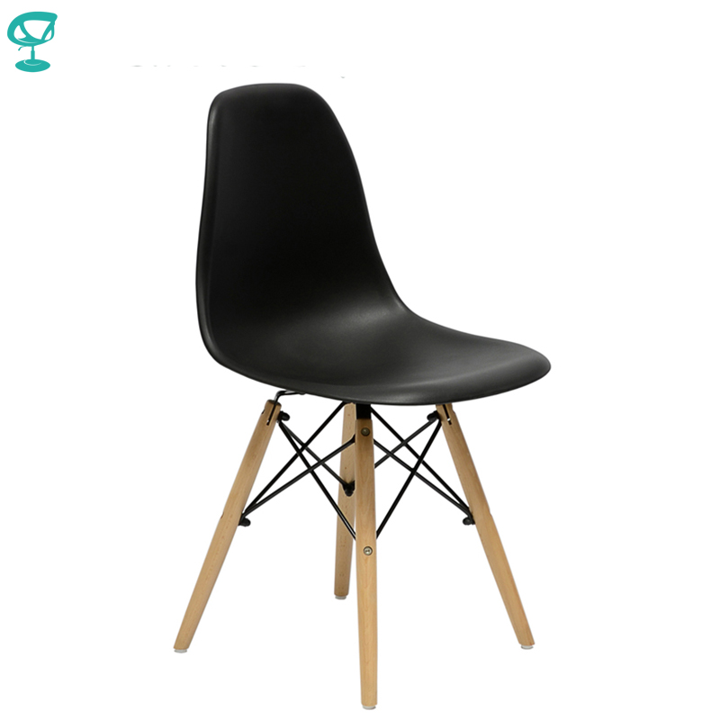 94893 Barneo N-12 Plastic Wood Kitchen Breakfast Interior Stool Bar Chair Kitchen Furniture Black free shipping in Russia