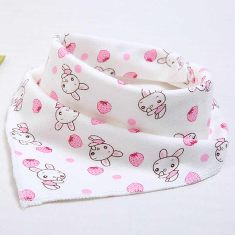 새로운 귀여운 아기 bibs 아기 먹이 만화 인쇄 면화 신생아 유아 소녀와 소년 유아 삼각형 스카프 bib bandana
