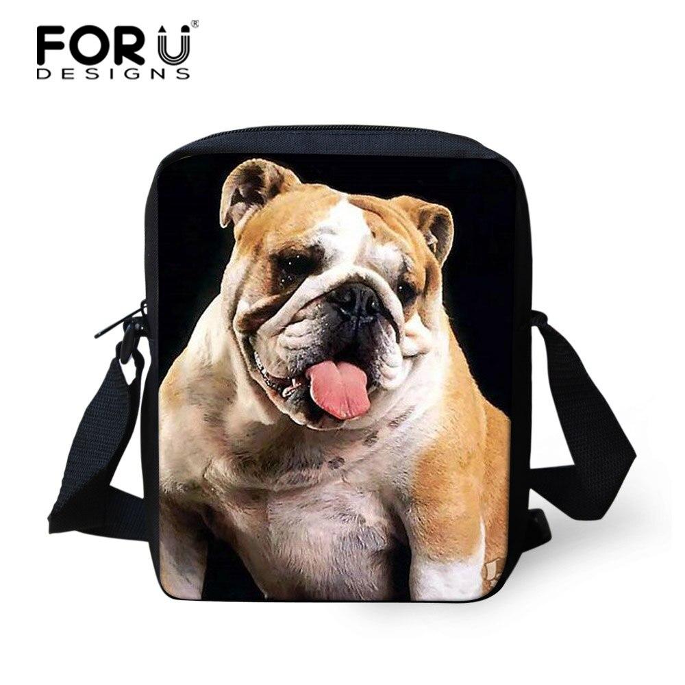 af288b990db FORUDESIGNS Women Messenger Bags Girls Mini Bags 3D Animal Pug Dog Printing Shoulder  Bag Ladies Crossbody Small Travel Bag-in Crossbody Bags from Luggage ...