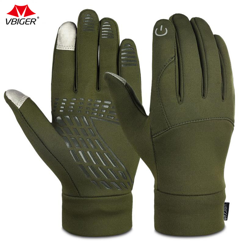 Vbiger Adult Child Winter Gloves Professional Outdoor Cycling Running Touch Screen Gloves Winter Sport Gloves цена