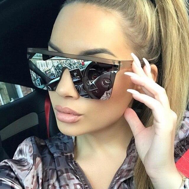 Мужская мода 2019 Женские квадратные солнцезащитные очки для женщин большие солнцезащитные очки винтажная, брендовая, дизайнерская серебряные зеркальные солнцезащитные очки для женщин