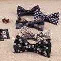 Corea venta Caliente de la manera Del Hombre de negocios Formal de la pajarita de mariposa pajarita corbata masculina de impresión jacquard de rayas pajaritas para los hombres 50 unids