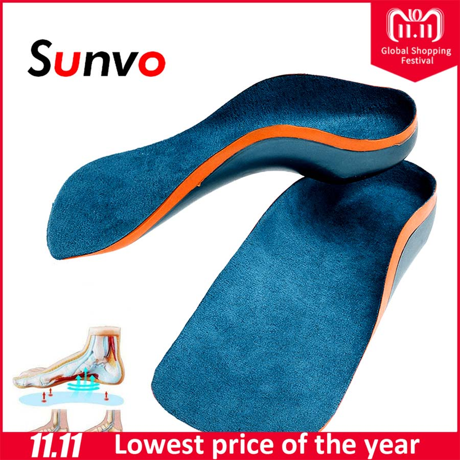 Sunvo Orthotic Insoles for Kids Flat Feet Arch Support Children Insole Child Orthopedic Correction Shoes Pads Foot Health Care children arch support orthopedic insoles flat foot orthotic cushion pads correction health feet care for children shoes insoles